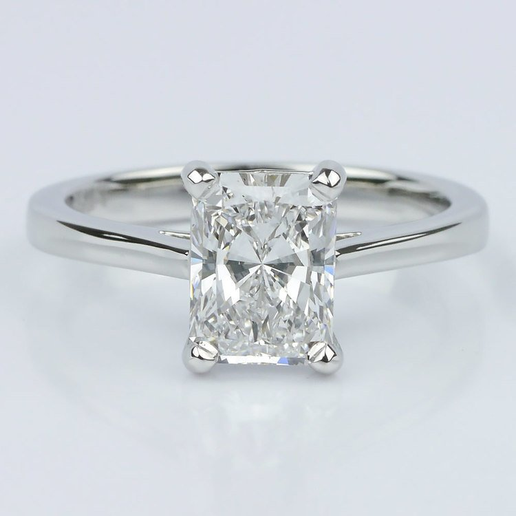 a3bda559e Petite Cathedral Radiant Solitaire Engagement Ring (1.60 ct.)