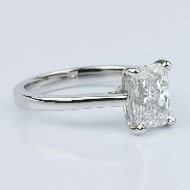 Petite Cathedral Radiant Solitaire Engagement Ring (1.60 ct.) angle 3