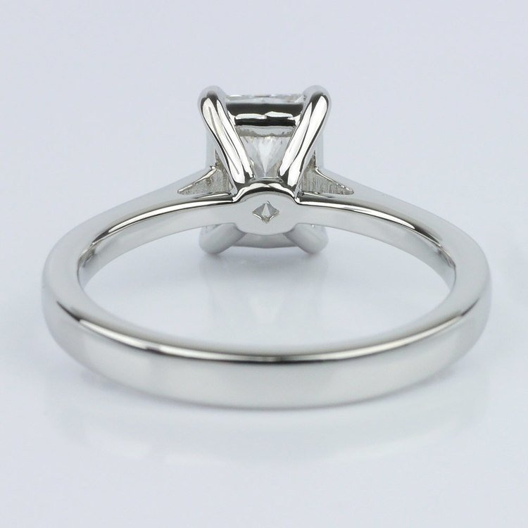 Petite Cathedral Radiant Solitaire Engagement Ring (1.60 ct.) angle 4