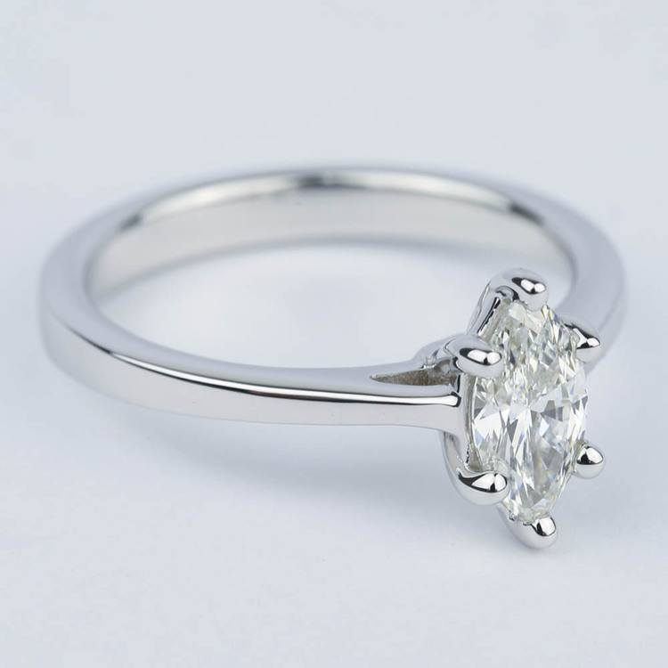 Marquise Diamond Cathedral Engagement Ring (0.72 ct.) angle 3