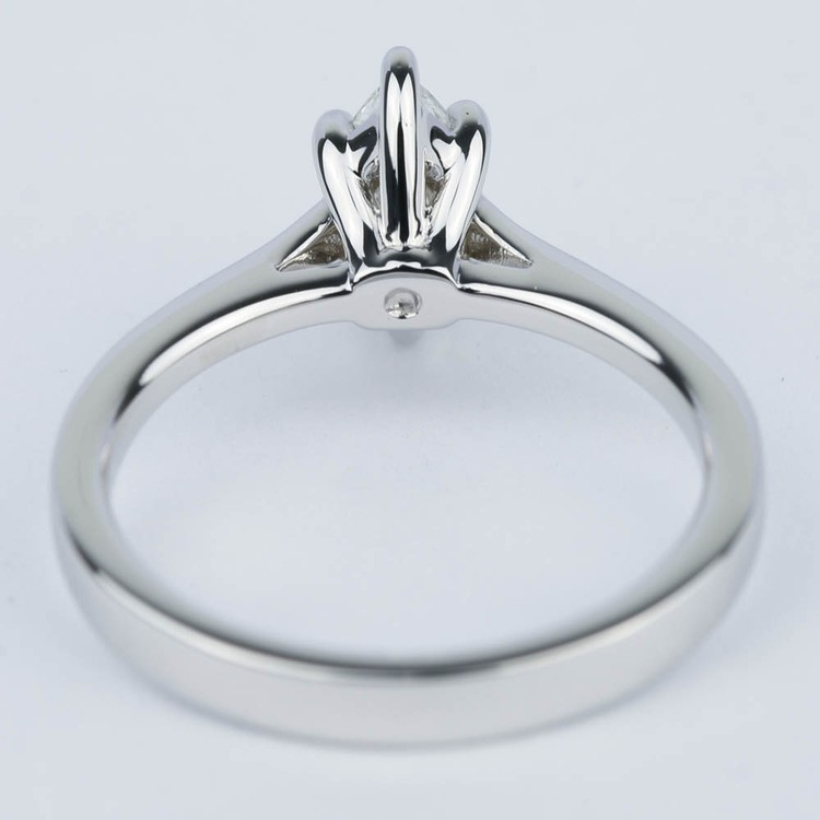 Marquise Diamond Cathedral Engagement Ring (0.72 ct.) angle 4