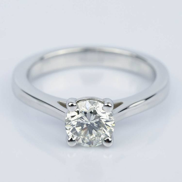 Petite Cathedral Solitaire Diamond Engagement Ring (0.75 ct.)