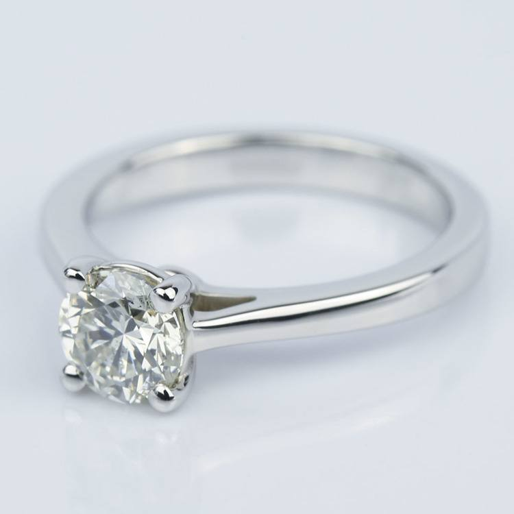 Petite Cathedral Solitaire Diamond Engagement Ring (0.75 ct.) angle 2