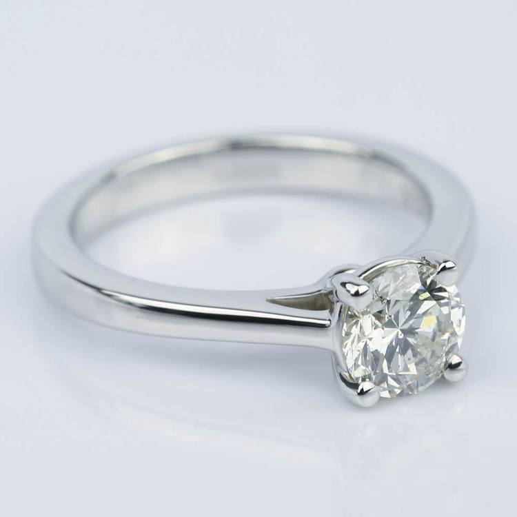Petite Cathedral Solitaire Diamond Engagement Ring (0.75 ct.) angle 3