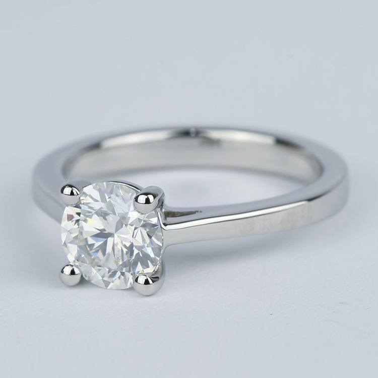 Petite Cathedral Solitaire Diamond Engagement Ring (1.20 Carat) angle 2