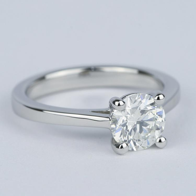 Petite Cathedral Solitaire Diamond Engagement Ring (1.20 Carat) angle 3