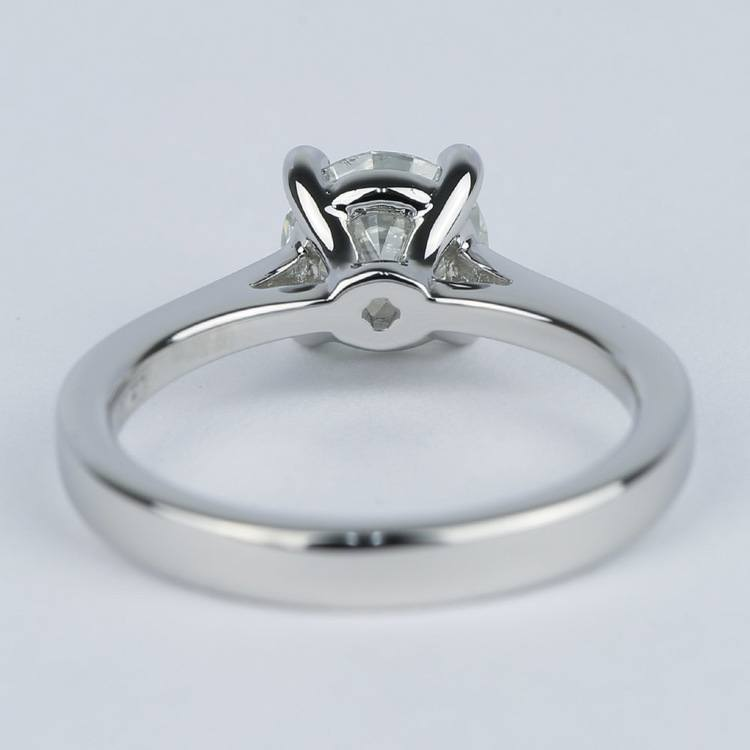 Petite Cathedral Solitaire Diamond Engagement Ring (1.20 Carat) angle 4