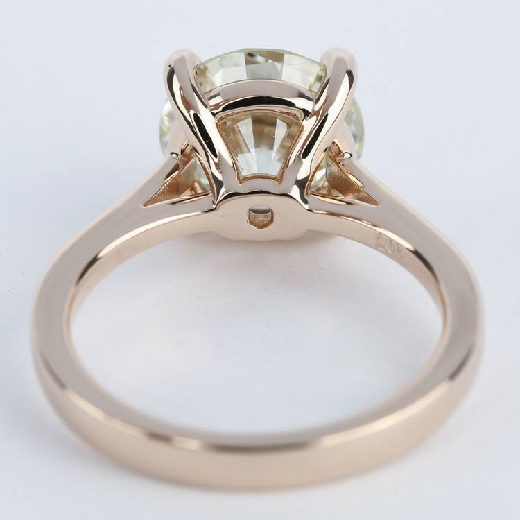Petite Diamond Engagement Ring in Rose Gold (3.50 Carat) angle 4