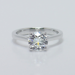 Petite Cathedral Solitaire Diamond Engagement Ring (1.86 Carat) - small
