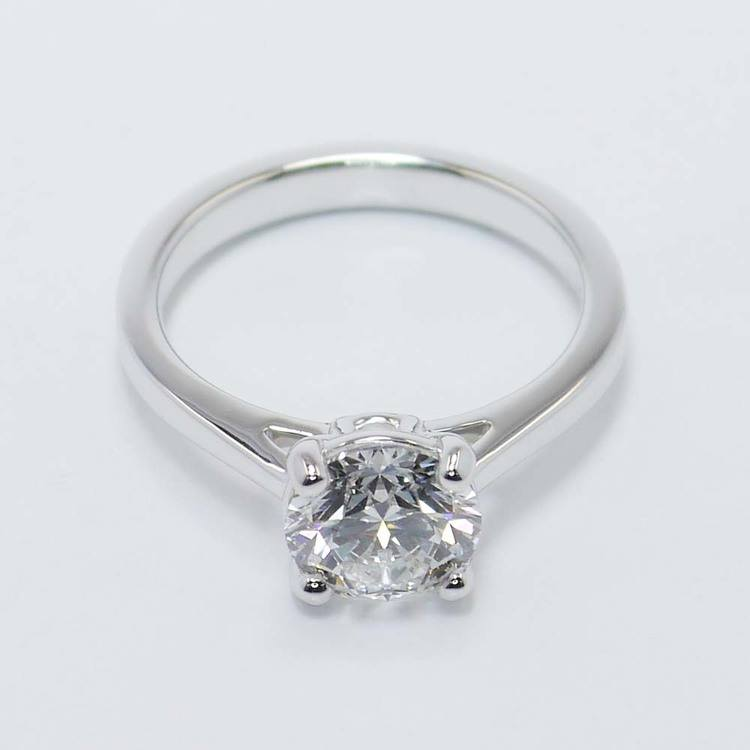 Petite Cathedral Solitaire Diamond Engagement Ring (1.86 Carat) angle 2