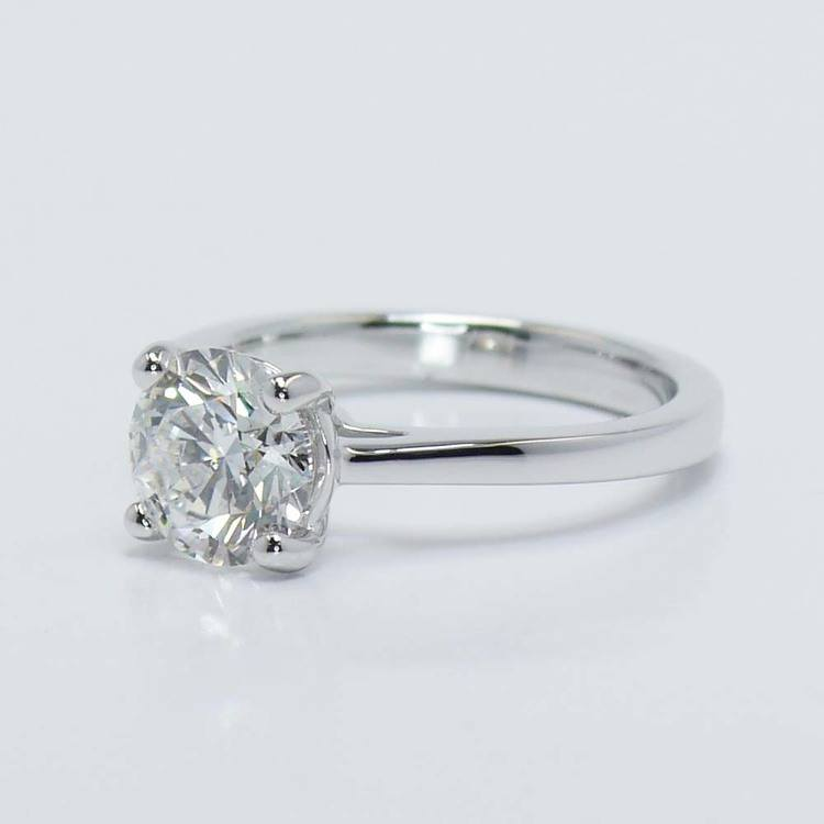 Petite Cathedral Solitaire Diamond Engagement Ring (1.86 Carat) angle 3