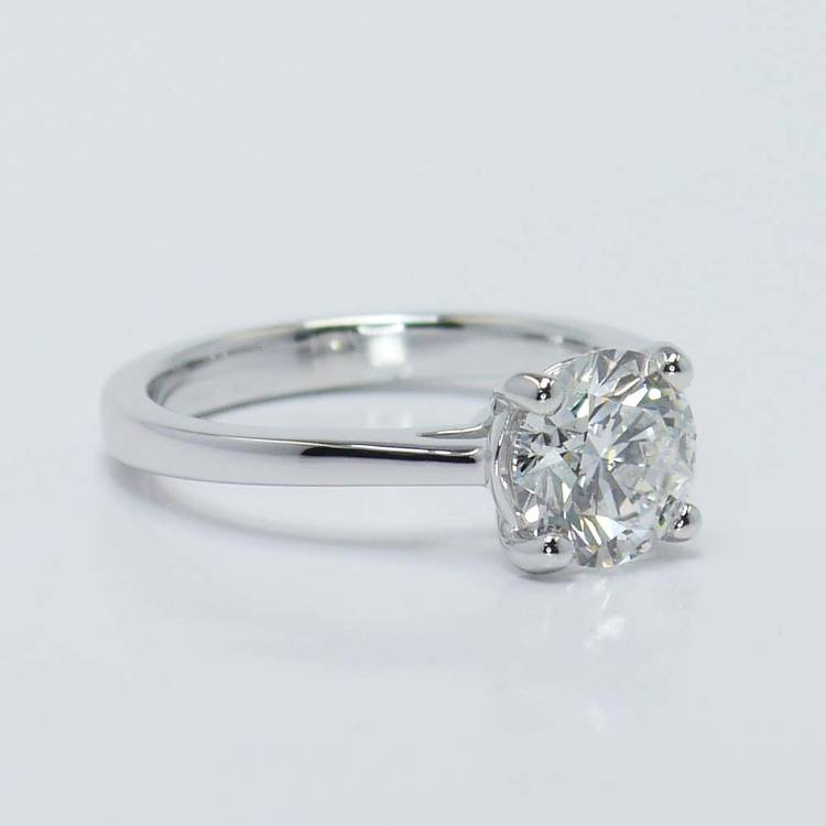 Petite Cathedral Solitaire Diamond Engagement Ring (1.86 Carat) angle 4