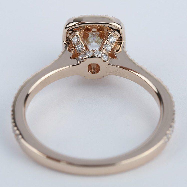 Petite Halo Cushion Diamond Engagement Ring (1/2 Carat) angle 4