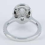 Petite Halo 1.02 Carat Oval Diamond Engagement Ring - small angle 4