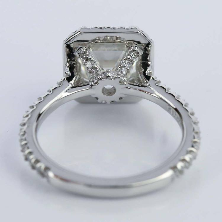 Petite Halo 2.00 Carat Asscher Diamond Engagement Ring angle 4