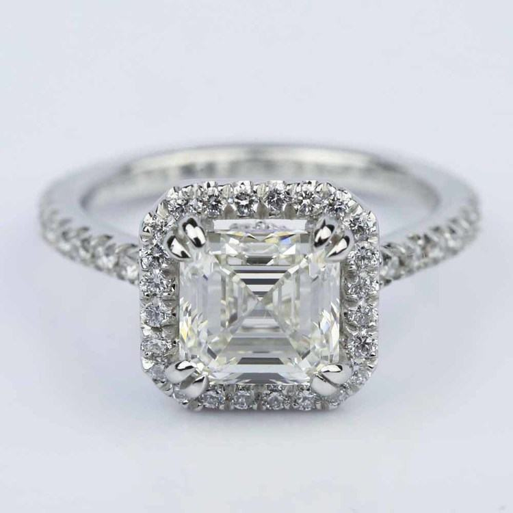 Petite Halo 2.00 Carat Asscher Diamond Engagement Ring