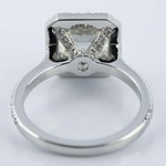 Petite Halo 2.51 Carat Asscher Diamond Engagement Ring - small angle 4