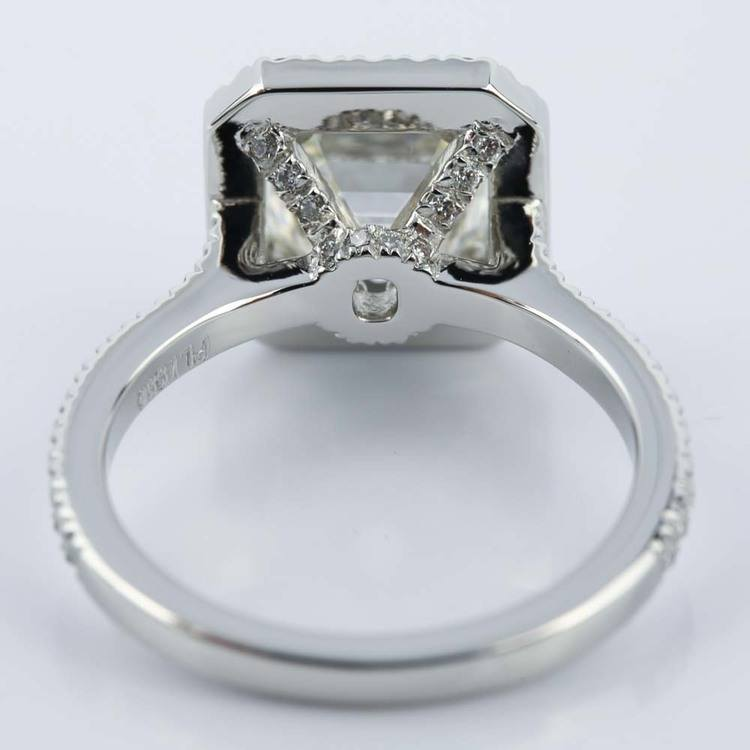 Petite Halo 2.51 Carat Asscher Diamond Engagement Ring angle 4