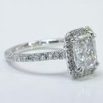 2 Carat Radiant Diamond with Petite Halo Ring - small angle 2
