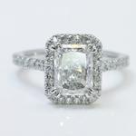 2 Carat Radiant Diamond with Petite Halo Ring - small