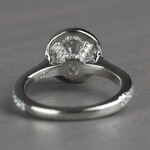 Petite Halo Round 0.82 Carat Diamond Engagement Ring - small angle 4