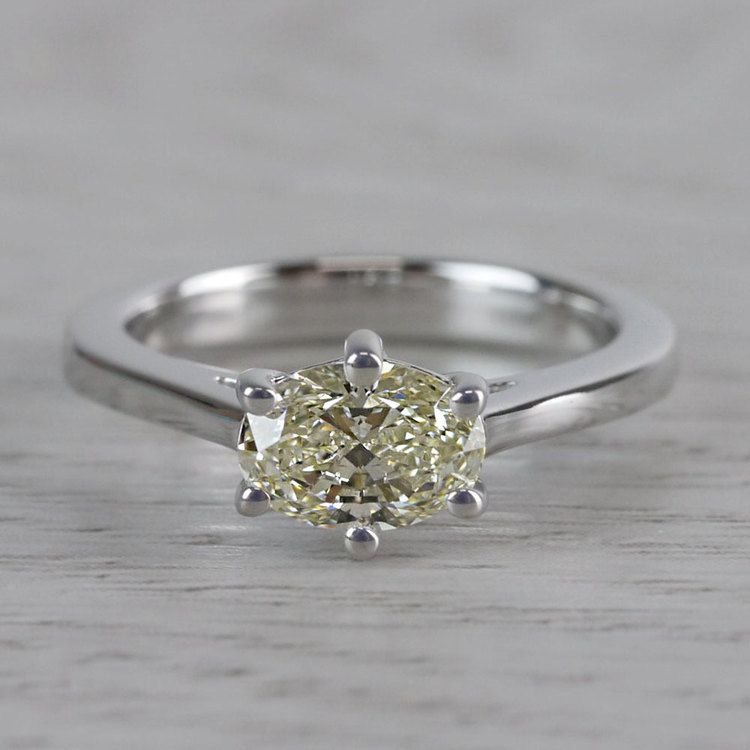 Petite Oval Diamond Solitaire Engagement Ring