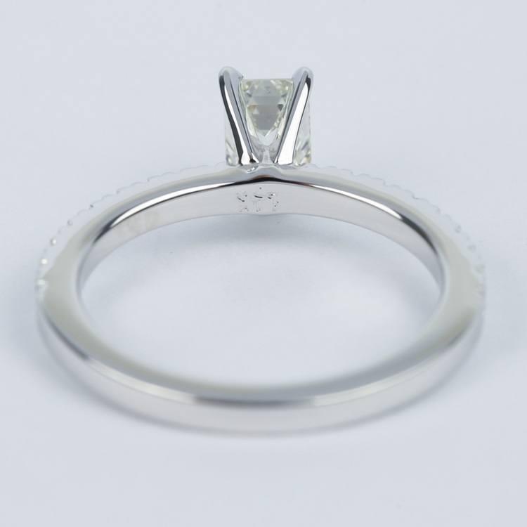 Petite-Pave Emerald Diamond Engagement Ring (1/2 Carat) angle 4