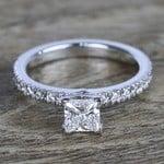 Near-Flawless Princess Diamond Pave Engagement Ring - small