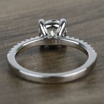 Petite Pave 0.85 Carat Round Diamond Engagement Ring - small angle 4