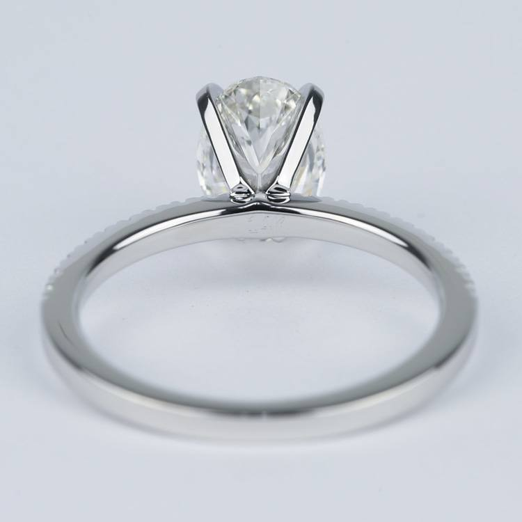 1.80 Carat Oval Diamond Petite Pave Engagement Ring angle 4