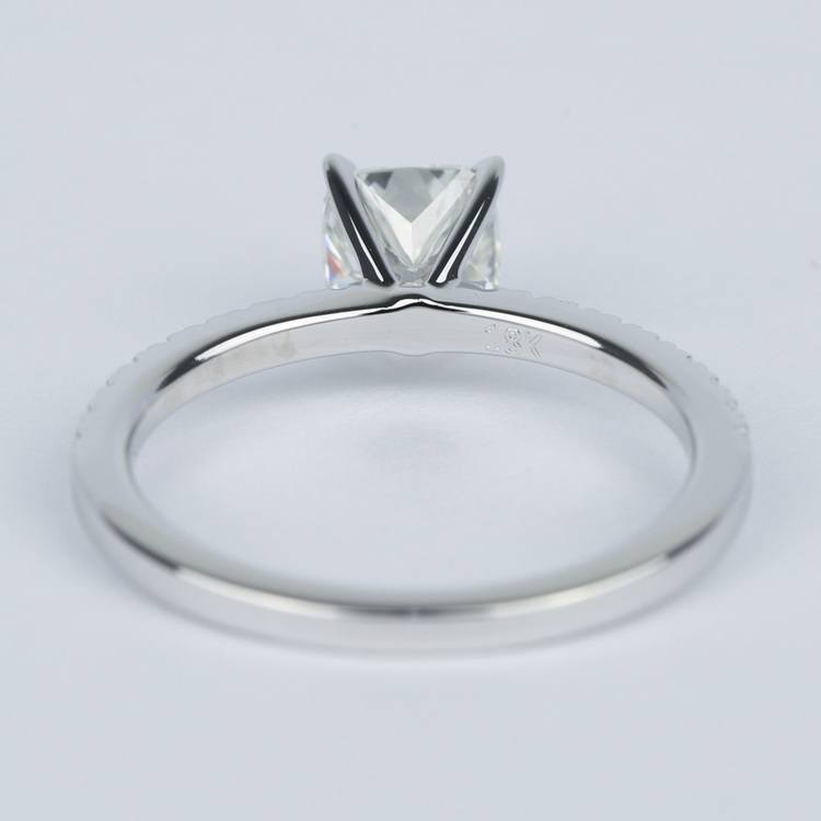 Cushion Diamond Engagement Ring with Petite Pave (1 Carat) angle 4