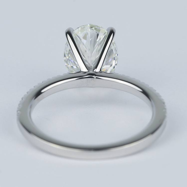 Pave Oval-Cut Diamond Engagement Ring (2 Carat) angle 4