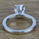Petite Pave Diamond Engagement Ring (0.95 ct.) - small angle 4