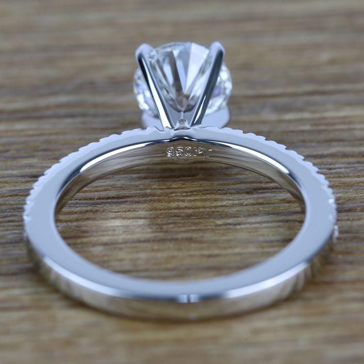 Petite Pave Diamond Engagement Ring (0.95 ct.) angle 4