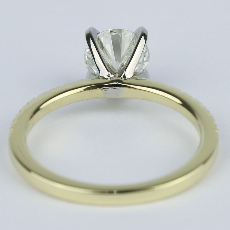 Petite K Color Diamond Engagement Ring in Yellow Gold (1.12 ct.) angle 4