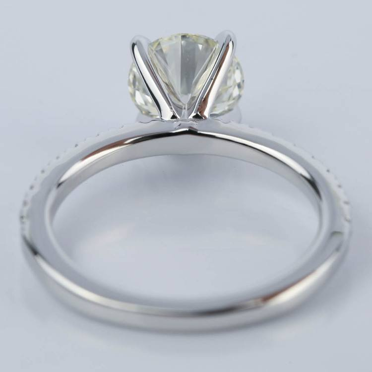 Petite Pave Engagement Ring with Super Ideal Diamond (1.31 ct.) angle 4