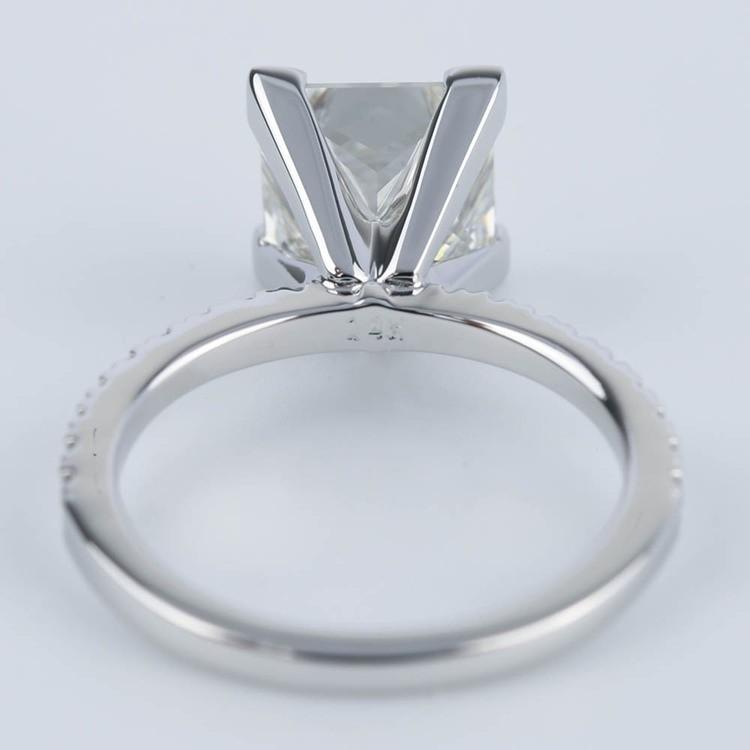 Petite Pave Princess Diamond Engagement Ring (2.50 ct.) angle 4