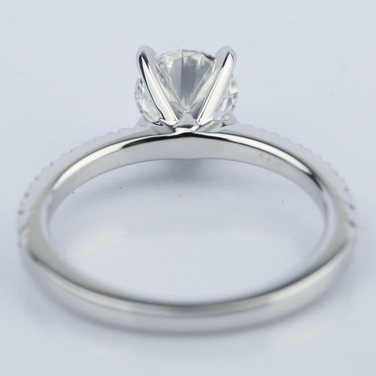 Petite Pave Super Ideal Diamond Engagement Ring (0.70 ct.) angle 4