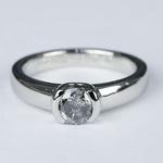 Petite Semi Bezel Diamond Engagement Ring in Platinum - small