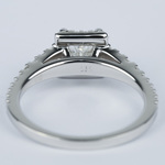 Split Shank Halo Princess Diamond Engagement Ring (1 Carat) - small angle 4