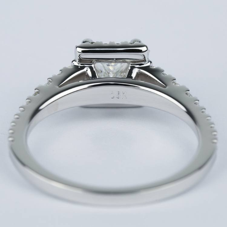 Split Shank Halo Princess Diamond Engagement Ring (1 Carat) angle 4