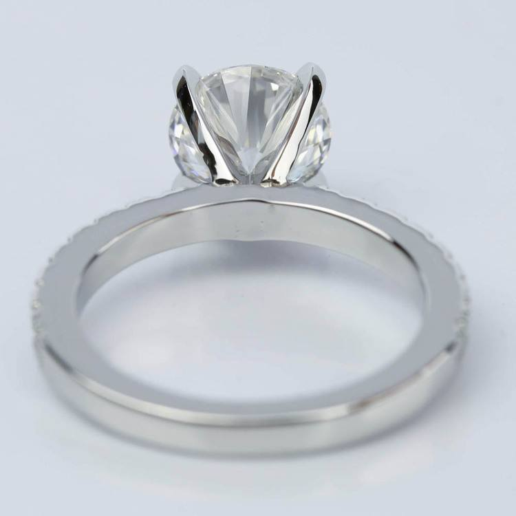Platinum Petite Pave Round Diamond Engagement Ring (2.22 ct.) angle 4