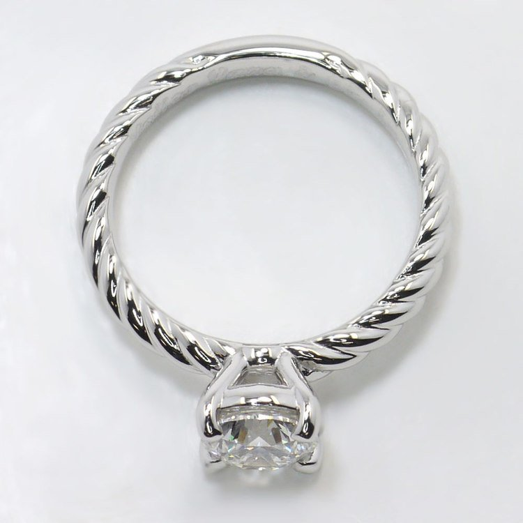 Platinum Twisted Rope Engagement Ring angle 4