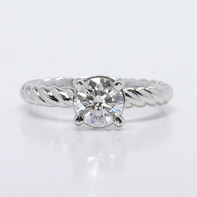 Platinum Twisted Rope Engagement Ring