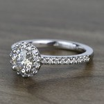 Preset 1.25 Carat Round Halo Diamond Engagement Ring - small angle 2