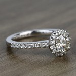 Preset 1.25 Carat Round Halo Diamond Engagement Ring - small angle 3