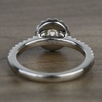Preset 1.25 Carat Round Halo Diamond Engagement Ring - small angle 4