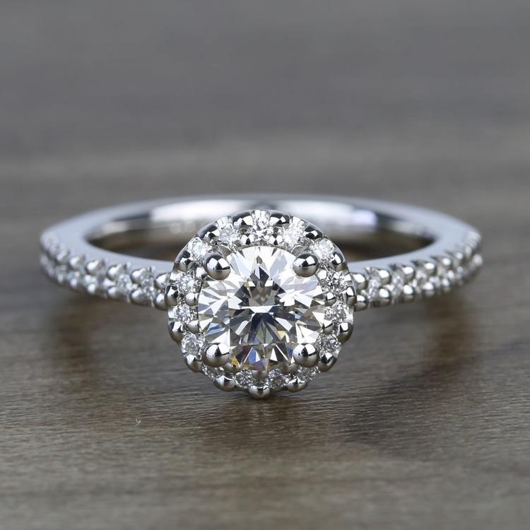 Preset 1.25 Carat Round Halo Diamond Engagement Ring