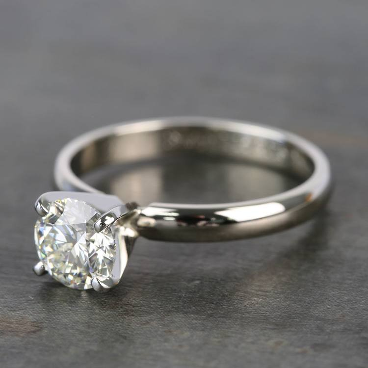 Preset 1 Carat Round Solitaire Diamond Engagement Ring angle 2