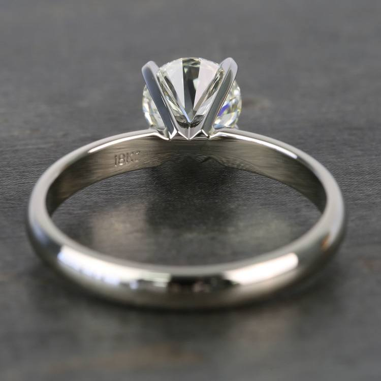 Preset 1 Carat Round Solitaire Diamond Engagement Ring angle 4